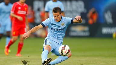 Bruno Zuculini: In action for Man City in New York last summer
