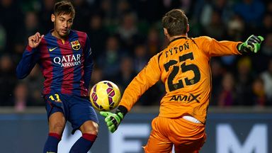 Neymar scores Barcelona's third goal