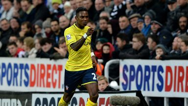 Eljero Elia celebrates one of his two goals for Southampton at Newcastle in January