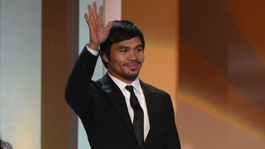 Manny Pacquiao: At the Miss Universe pageant at the weekend