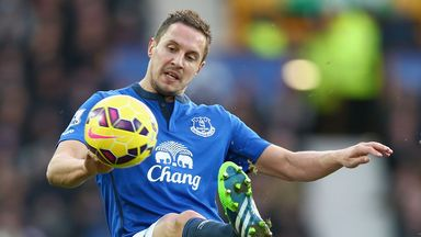 Phil Jagielka in action for Everton on Saturday