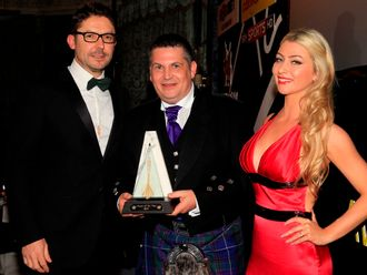 Gary Anderson with the award of PDC Player of the Year