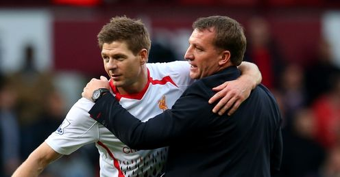 Steven Gerrard and Brendan Rodgers: The Reds' captain faces an uphill battle to return to the first team