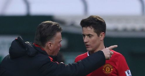 Louis van Gaal: Gets shirty after Ander Herrera's future is questioned