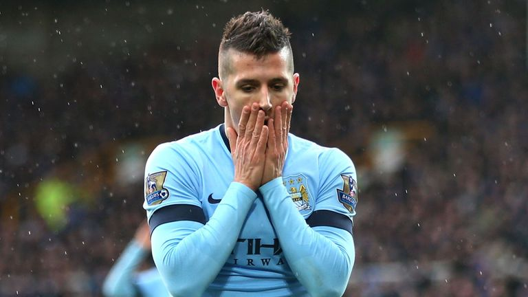 Jovetic struggled to break into the Manchester City side