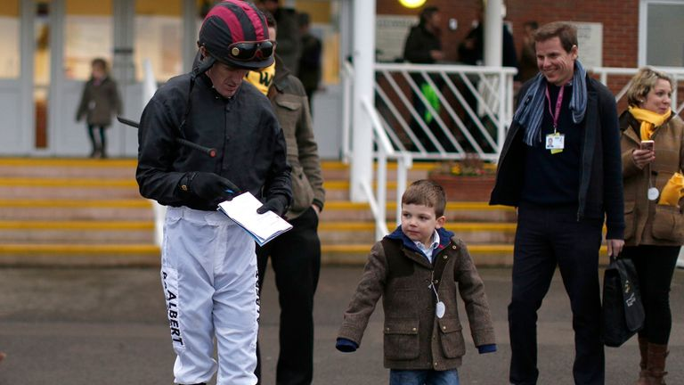 McCoy finds time to talk to the most important people at Newbury on the day he announced he will retire this season.