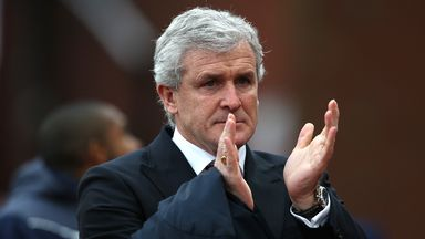 Mark Hughes was pleased with Stoke