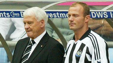 Sir Bobby Robson and Alan Shearer.