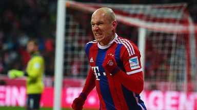 Arjen Robben could feature for Bayern against Borussia Dortmund