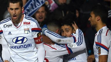 Lyon were celebrating on Saturday