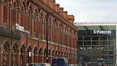 Claims fans were signing racist chants at St Pancras
