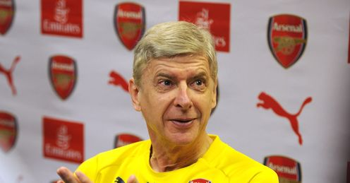 Arsenal manager Arsene Wenger is targeting second place
