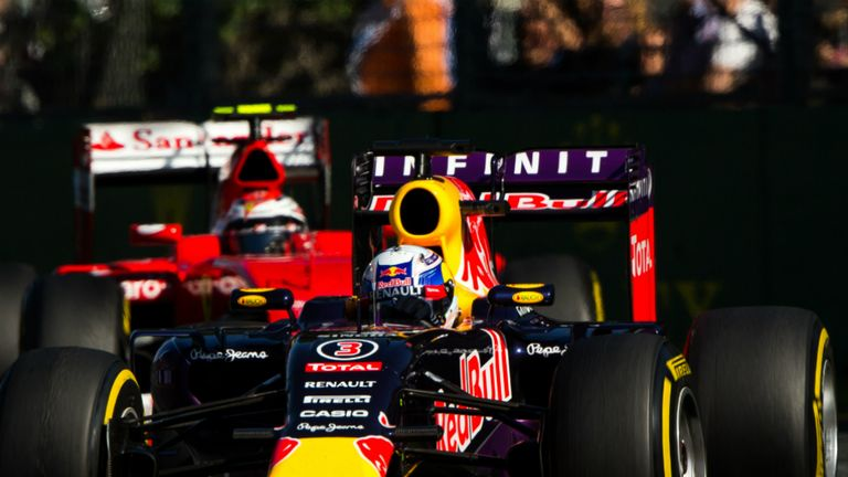 Red Bull slipped behind Ferrari at the first race