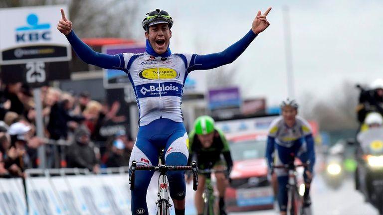 Jelle Wallays won a wet Dwars Door Vlaanderen