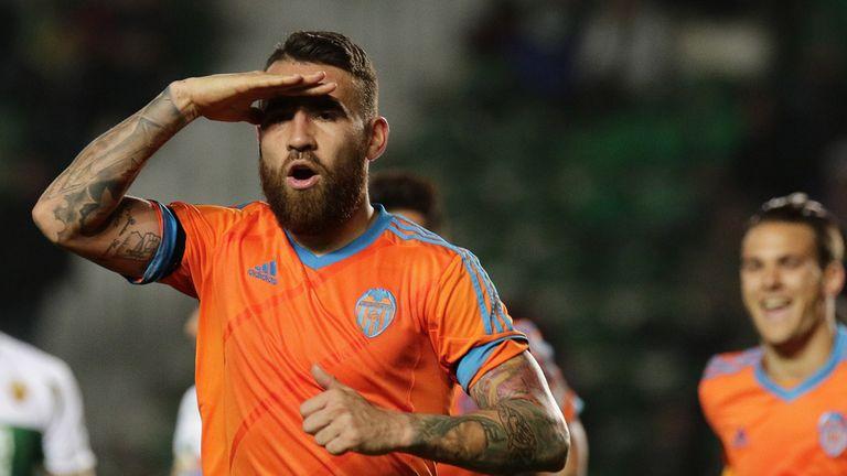 Valencia's Argentine defender Nicolas Otamendi