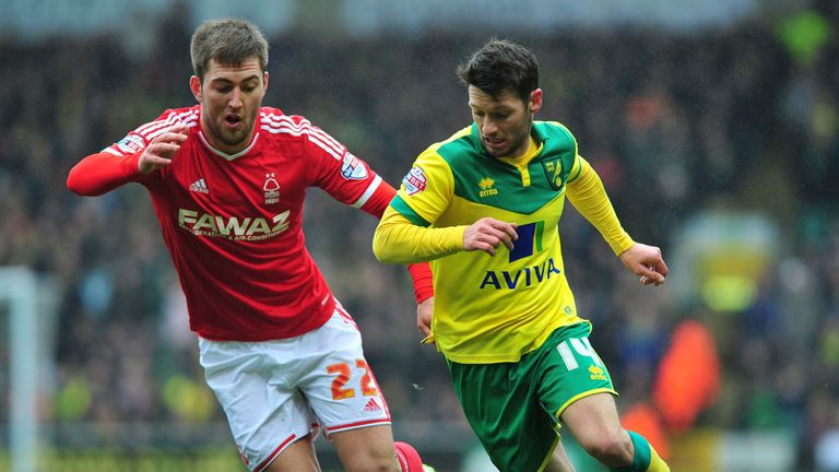 Norwich City's Wes Hoolahan (R) is expected to return