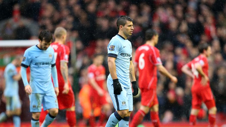 Manchester City's title hopes took a dent at Liverpool on Sunday