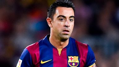 Xavi: The veteran midfielder has just over a year left on his contract