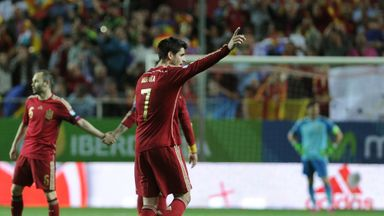 Alvaro Morata: Celebrates scoring the only goal of the game for Spain