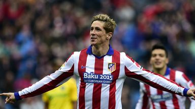 Atletico Madrid's forward Fernando Torres celebrates