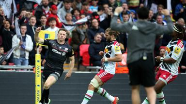 Chris Ashton: Scored twice for Saracens at Wembley