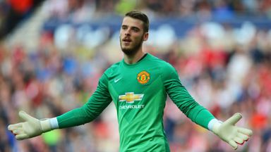David De Gea is yet to feature for Manchester United this season