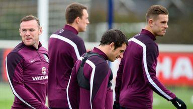 Wayne Rooney, Phil Jones, Leighton Baines and Jordan Henderson take part in England
