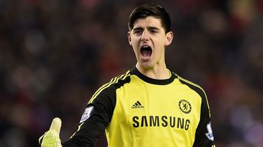 Chelsea goakeeper Thibaut Courtois