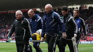 Dean Gerken: Stretchered off against Middlesbrough