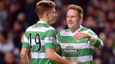 Kris Commons: Celebrates his Scottish Cup goal against United