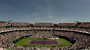 Novak Djokovic of Serbia plays Andy Murray of Great Britain during the final of the Sony Ericsson Open at the Crandon Park Te