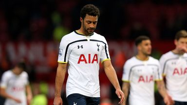 Mousa Dembele: Shows dejection at Old Trafford