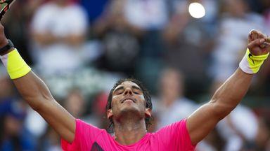 Rafa Nadal clinched a 7-5 7-5 win over Fabio Fognini