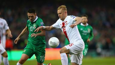 Robbie Keane: Battling with Poland
