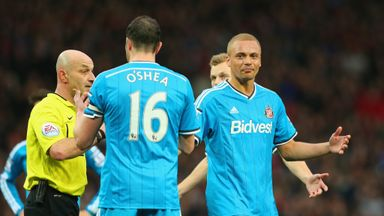 Wes Brown: Non-plussed after being sent off by Roger East