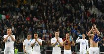 Grounded: The England team's flight was delayed by a technical issue