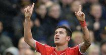 Liverpool's Philippe Coutinho celebrates