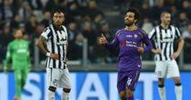 Mohamed Salah: Celebrates his second goal for Fiorentina