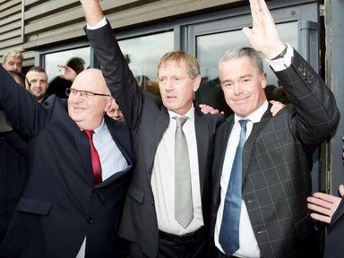 John Gilligan, Dave King and Paul Murray at Ibrox