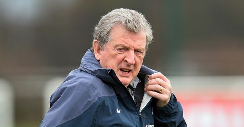 England manager Roy Hodgson is pictured during a team training session at Tottenham Hotspur Training Centre in