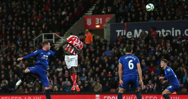 Moses rose highest to open the scoring at the Britannia.