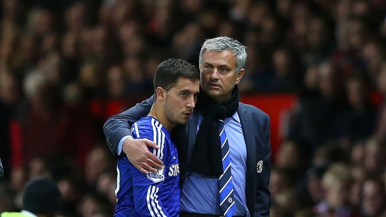 Chelsea's Eden Hazard insists he does not have 'a problem' with Jose Mourinho