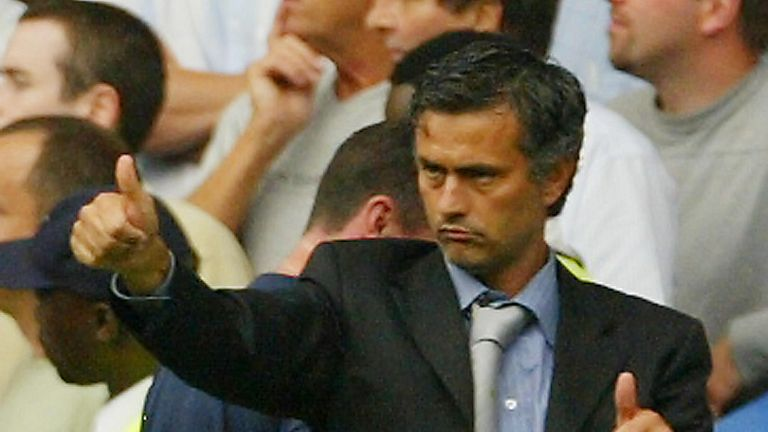 Mourinho won his first game as Chelsea boss against United