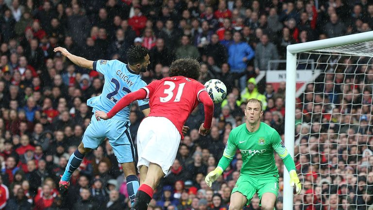 Marouane Fellaini was among the scorers for United in April