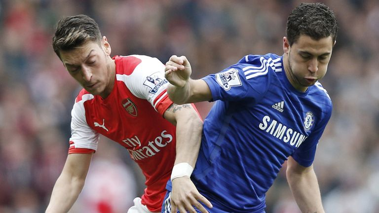 Arsenal playmaker Mesut Ozil and his Chelsea counterpart Eden Hazard are both in line to start at the Emirates on Sunday after recent injury layoffs