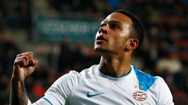Memphis Depay: On target in PSV Eindhoven win