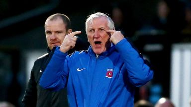Ronnie Moore: Frustrated by Hartlepool back line