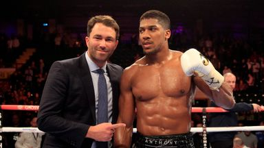 Eddie Hearn (L) and Anthony Joshua