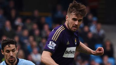Carl Jenkinson: West Ham defender in action against Manchester City