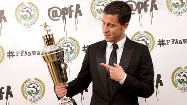 Eden Hazard: Won the PFA Player of the Year award